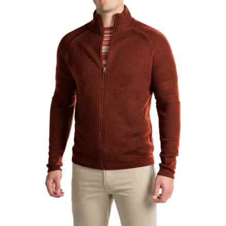 Ibex Mountain Sweater - Merino Wool, Full Zip (For Men) in Umber Heather - Closeouts