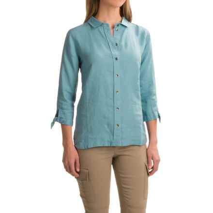 Ibex Nalani Shirt - Hemp, 3/4 Sleeve (For Women) in Harbor - Closeouts