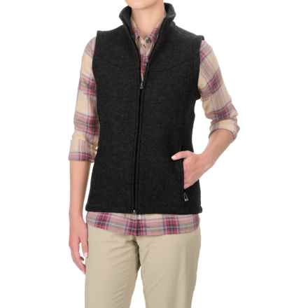 Ibex Nicki Loden Wool Vest (For Women) in Black - Closeouts