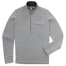 Ibex Nomad Half-Snap Pullover - Merino Wool, Fleece (For Men) in Stone - Closeouts