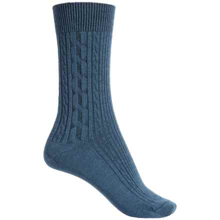 Ibex Norse Socks - Merino Wool, Crew (For Women) in Baltic - Closeouts