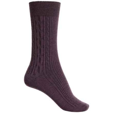 Ibex Norse Socks - Merino Wool, Crew (For Women) in Kohlrabi - Closeouts