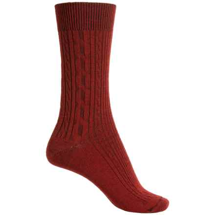 Ibex Norse Socks - Merino Wool, Crew (For Women) in Mars Red - Closeouts