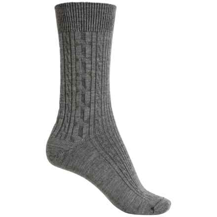 Ibex Norse Socks - Merino Wool, Crew (For Women) in Stone Grey Heather - Closeouts