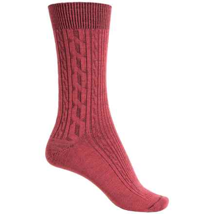 Ibex Norse Socks - Merino Wool, Crew (For Women) in Winter Cherry - Closeouts