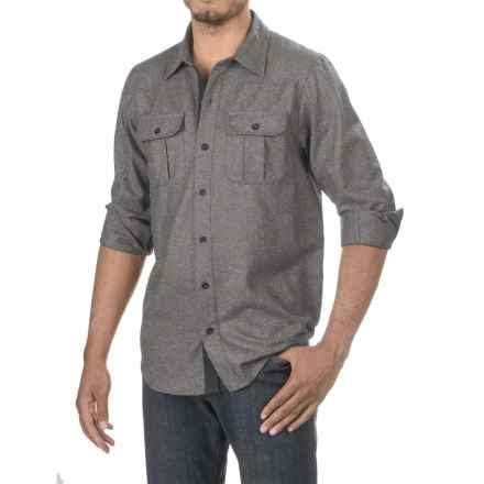 Ibex Northstar Shirt- Virgin Wool, Long Sleeve (For Men) in Charcoal Heather - Closeouts