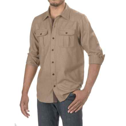 Ibex Northstar Shirt- Virgin Wool, Long Sleeve (For Men) in Rye Heather - Closeouts