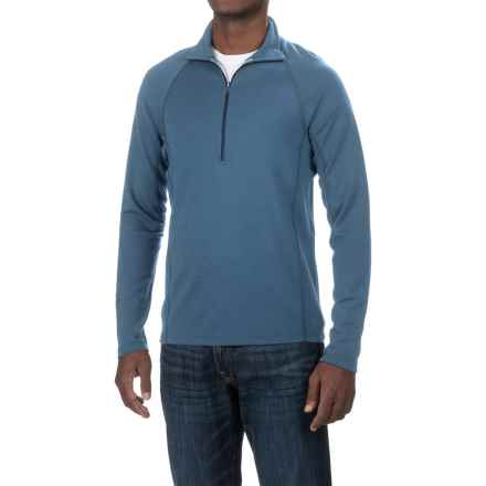 Ibex Northwest Shirt - Merino Wool, Zip Neck (For Men) in Baltic - Closeouts