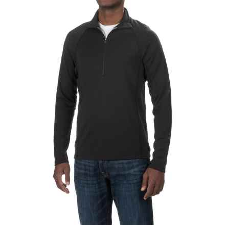 Ibex Northwest Shirt - Merino Wool, Zip Neck (For Men) in Black - Closeouts