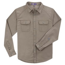 Ibex OC Canvas Shirt - Organic Cotton, Long Sleeve (For Men) in Rope - Closeouts