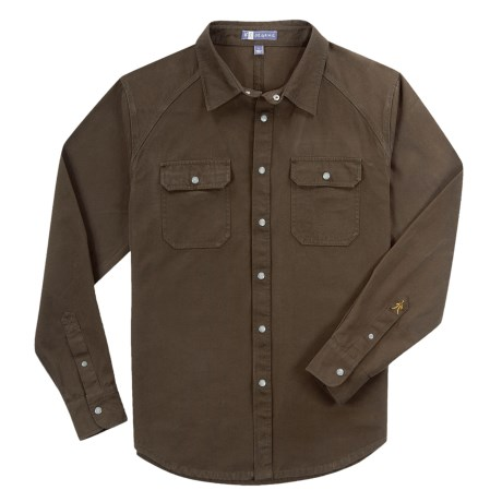 Ibex OC Canvas Shirt - Organic Cotton, Long Sleeve (For Men) in Soil