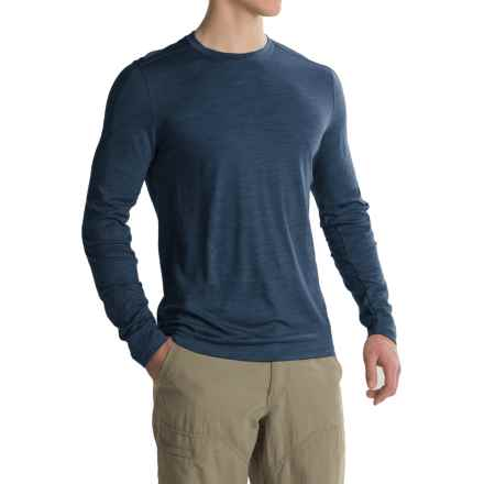 Ibex OD Crew Shirt - Merino Wool, Long Sleeve (For Men) in Baltic Heather - Closeouts