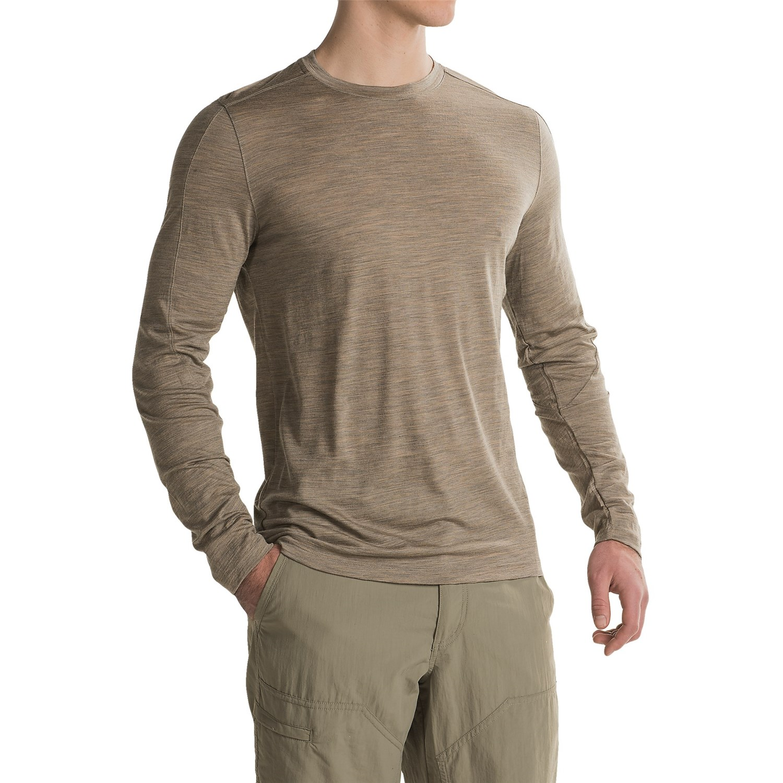 Ibex od crew shirt for men save 50 for Merino wool shirt long sleeve