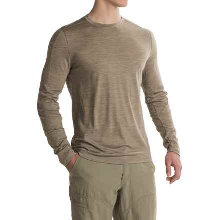 Ibex OD Crew Shirt - Merino Wool, Long Sleeve (For Men) in Rye Heather - Closeouts
