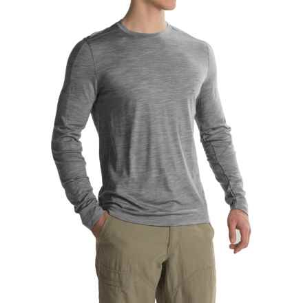 Ibex OD Crew Shirt - Merino Wool, Long Sleeve (For Men) in Stone Grey Heather - Closeouts