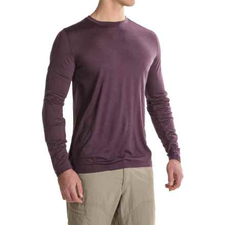 Ibex OD Crew Shirt - Merino Wool, Long Sleeve (For Men) in Wicked Dark Heather - Closeouts