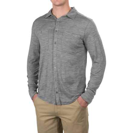 Ibex OD Heather Shirt - Merino Wool, Long Sleeve (For Men) in Stone Grey - Closeouts