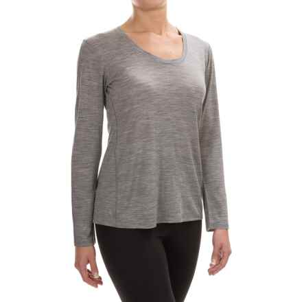Ibex OD Heather Shirt  - Merino Wool, Long Sleeve (For Women) in Stone Grey Heather - Closeouts