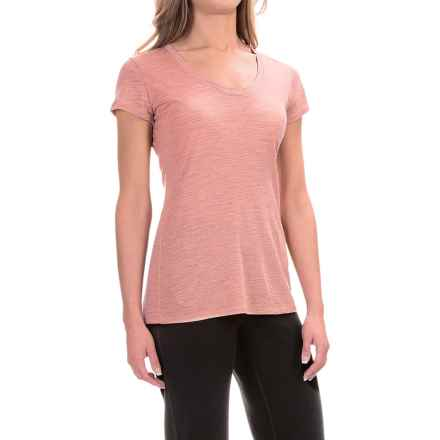 Ibex OD Heather T-Shirt - Merino Wool, Short Sleeve (For Women) in Daybreak Heather - Closeouts
