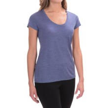 Ibex OD Heather T-Shirt - Merino Wool, Short Sleeve (For Women) in Iris Heather - Closeouts
