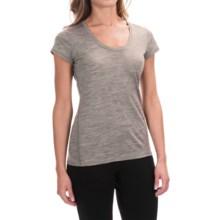 Ibex OD Heather T-Shirt - Merino Wool, Short Sleeve (For Women) in Stone Grey Heather - Closeouts