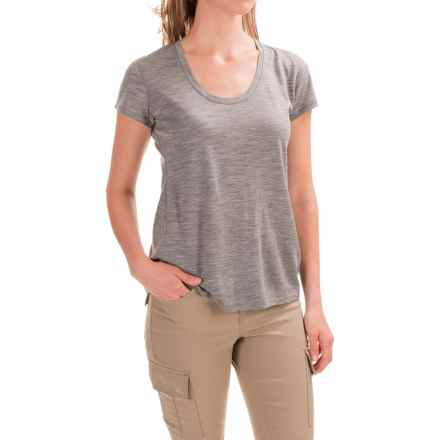 Ibex OD Heather T-Shirt - Merino Wool, Short Sleeve (For Women) in Stone Grey Heather - Closeouts