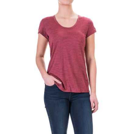 Ibex OD Heather T-Shirt - Merino Wool, Short Sleeve (For Women) in Winter Cherry Heather - Closeouts