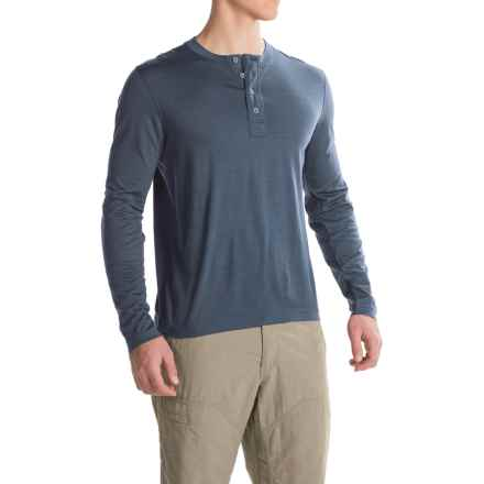 Ibex OD Henley Shirt - Merino Wool, Long Sleeve  (For Men) in Baltic Heather - Closeouts