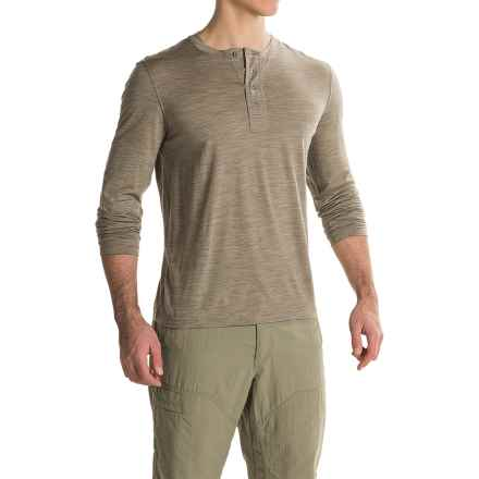 Ibex OD Henley Shirt - Merino Wool, Long Sleeve  (For Men) in Rye Heather - Closeouts