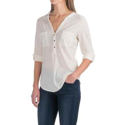 Ibex OD Shanti Henley Shirt - Merino Wool, Long Sleeve (For Women) in Birch - Closeouts