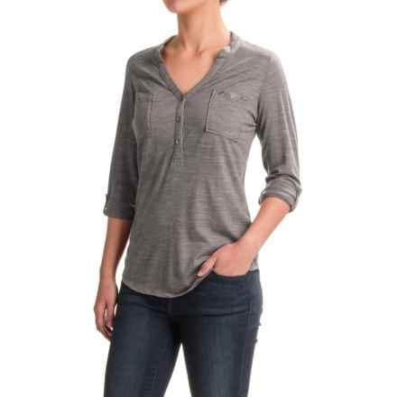 Ibex OD Shanti Henley Shirt - Merino Wool, Long Sleeve (For Women) in Stone Grey Heather - Closeouts