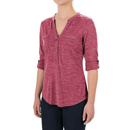 Ibex OD Shanti Henley Shirt - Merino Wool, Long Sleeve (For Women) in Winter Cherry Heather - Closeouts