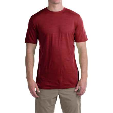 Ibex Overdye Sol T-Shirt - Merino Wool, Short Sleeve (For Men) in Red Ant Heather - Closeouts