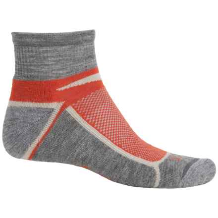 Ibex Quarter-Crew Socks - Wool, Ankle (For Men and Women) in Blood Orange - Closeouts
