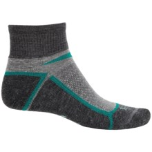 Ibex Quarter-Crew Socks - Wool, Ankle (For Men and Women) in Juniper - Closeouts