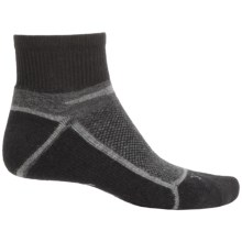 Ibex Quarter-Crew Socks - Wool, Ankle (For Men and Women) in Stone Grey Heather - Closeouts
