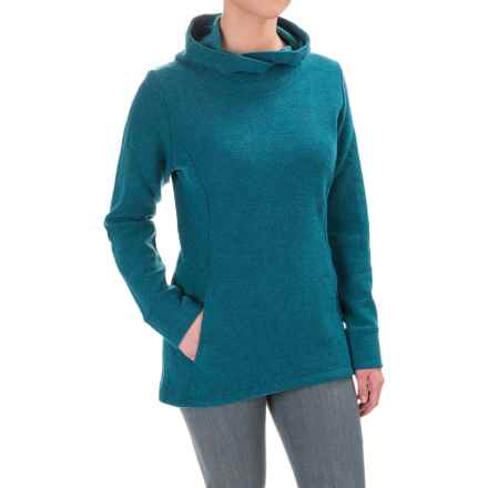 Ibex Reese Hoodie - Merino Wool (For Women) in Dragonfly Heather - Closeouts