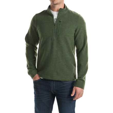 Ibex Scout Jura Sweater - Merino Wool, Zip Neck (For Men) in Balsam Heather - Closeouts