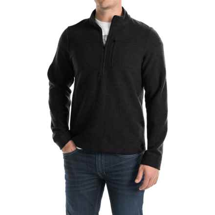 Ibex Scout Jura Sweater - Merino Wool, Zip Neck (For Men) in Black - Closeouts