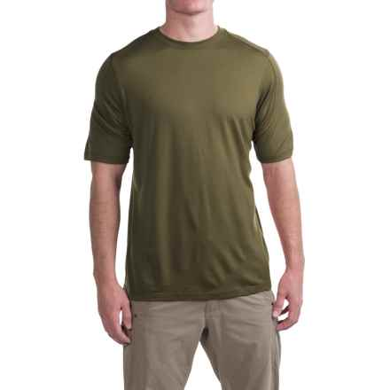 Ibex Seventeen.5 T-Shirt - Merino Wool, Crew Neck, Short Sleeve (For Men) in Acorn - Closeouts