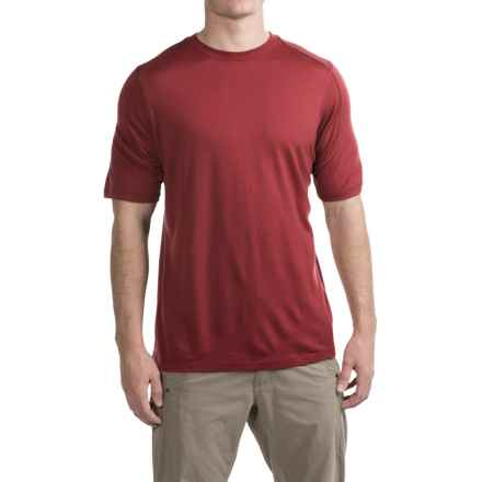 Ibex Seventeen.5 T-Shirt - Merino Wool, Crew Neck, Short Sleeve (For Men) in Aztec - Closeouts