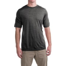 Ibex Seventeen.5 T-Shirt - Merino Wool, Crew Neck, Short Sleeve (For Men) in Pewter Heather - Closeouts
