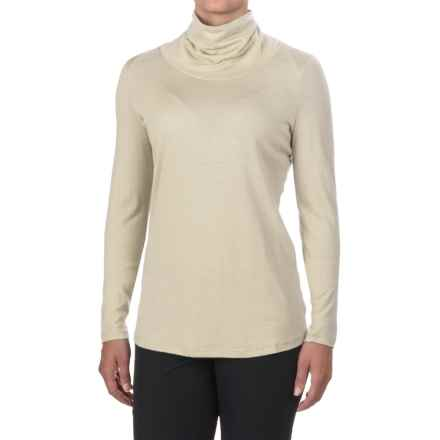 Ibex Seventeen.5 Turtleneck - Merino Wool, Long Sleeve (For Women) in Birch - Closeouts