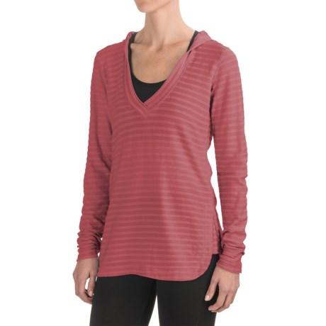 Ibex Shadow Stripe Hoodie - Merino Wool (For Women)