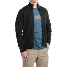 Ibex Shak Jacket - Merino Wool, Full Zip (For Men) in Black - Closeouts