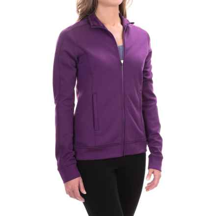 Ibex Shak Traverse Zip Sweatshirt - Merino Wool, Long Sleeve (For Women) in Mulberry - Closeouts