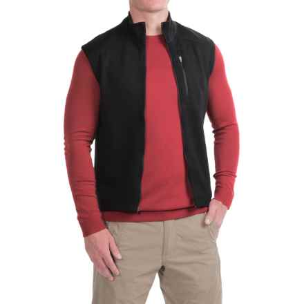 Ibex Shak Vest - Merino Wool, Full Zip (For Men) in Black - Closeouts