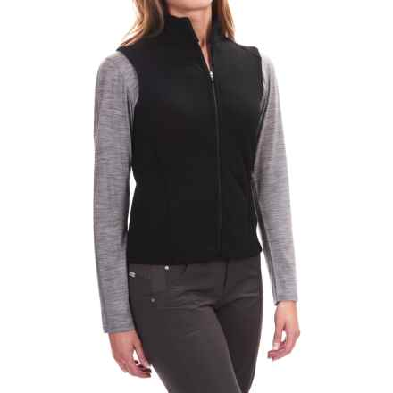 Ibex Shak Vest - Merino Wool, Full Zip (For Women) in Black - Closeouts