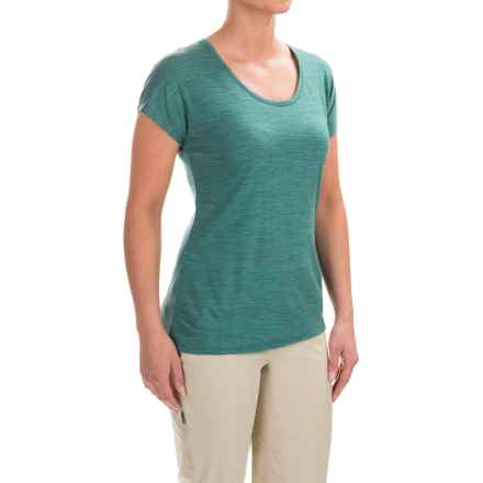 Ibex Sol T-Shirt - Merino Wool, Short Sleeve (For Women) in Juniper Heather - Closeouts