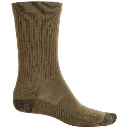 Ibex Solid Ribbed Socks - Merino Wool, Crew (For Men and Women) in Acorn - Closeouts